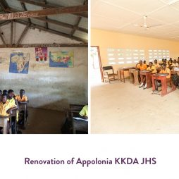Before and after of school in Appolonia