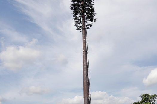 First cell tower has already been installed