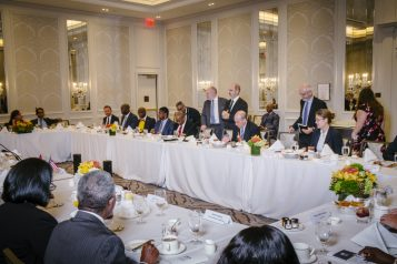 investors with Ghana President