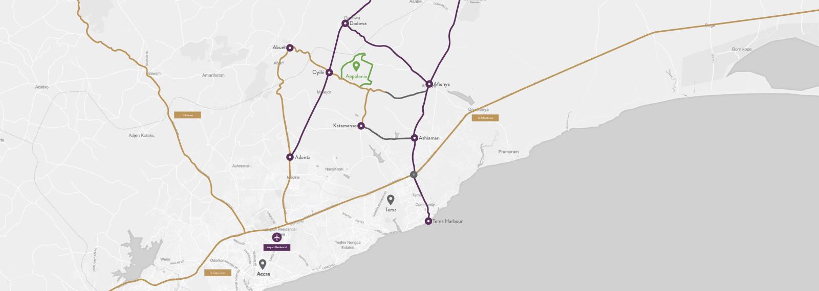 Appolonia City map