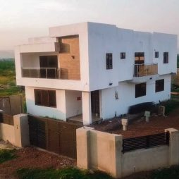 Homes of plot owners under construction